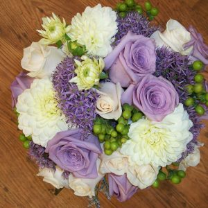Wedding Bouquet with Mauve Roses