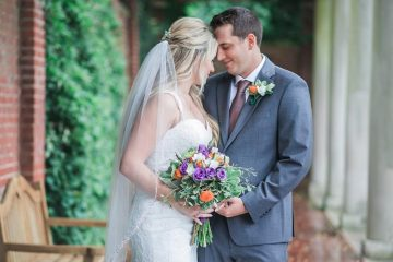 Purple Roses Wedding Bouquet