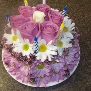 Flower Cake Pink Roses Pink Gerbers