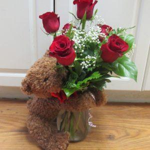 Valentine with Teddy Bear