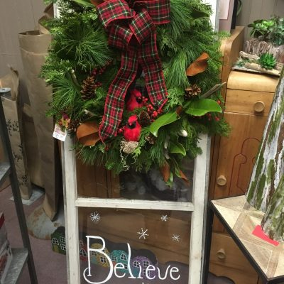 Winter Believe with Window Frame