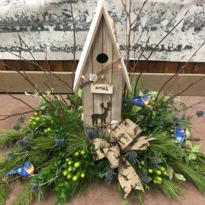 Birdhouse Flower Arrangement