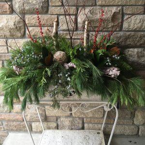 Outdoor Winter Floral Arrangement
