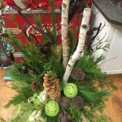 Winter Pinecone Arrangement
