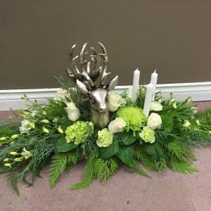 Deer Candle and Flower Arrangement